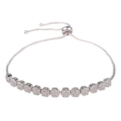 Dainty Adjustable Bracelet, Available in Silver, Gold or Rose Gold, Bridal Acces