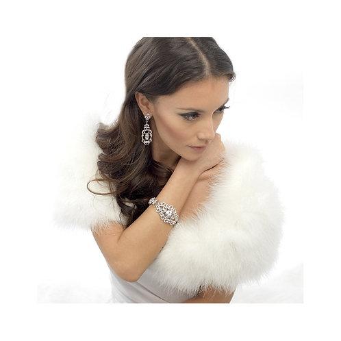 Vintage Inspired Chic Bracelet, Silver, Bridal Accessories, Wedding Jewellery, C