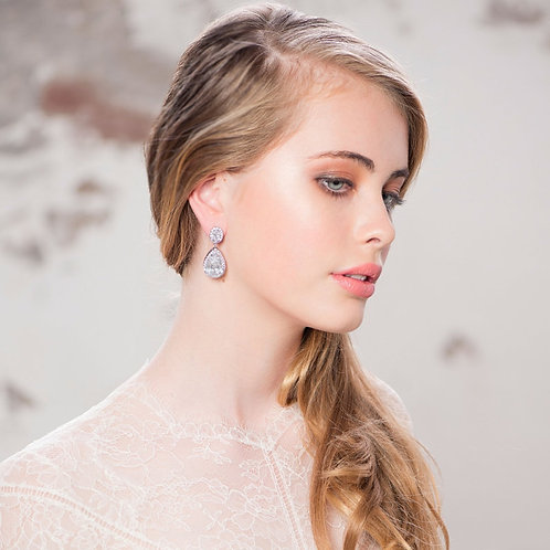 Stunning Sheer Elegance Crystal Earrings, Available in Gold, Silver or Rose Gold