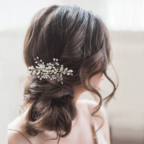 Eternally Pearl Hair Comb, Available in Silver, Rose Gold or Gold