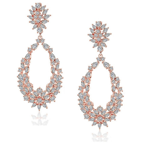 Starlet Dazzle Crystal Earrings, Available in Silver or Rose Gold, Bridal Access