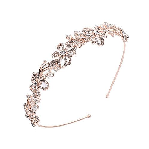 Beautiful Bridal Headband, Chic Crystal Treasure Headband,  Silver or Rose Gold