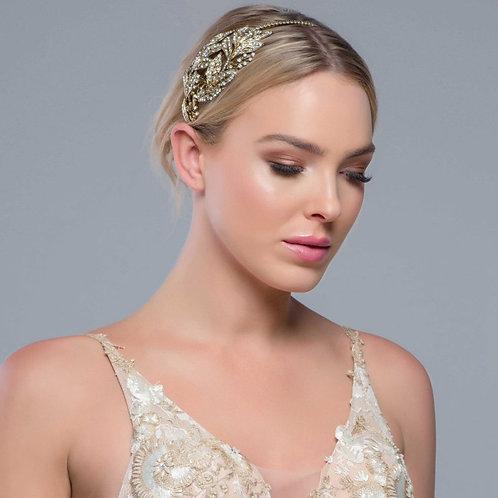 Beautiful Opulance Gold Bejewelled Headband, Bridal Accessories, Bridesmaid Hair