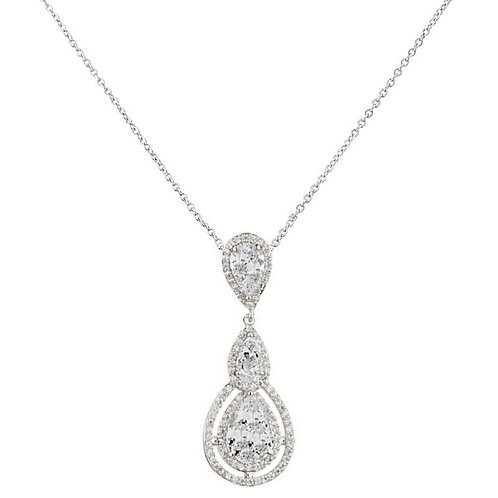 Crystal Treasure Necklace, Available in Silver,  Wedding Jewellery, Bridal Acces