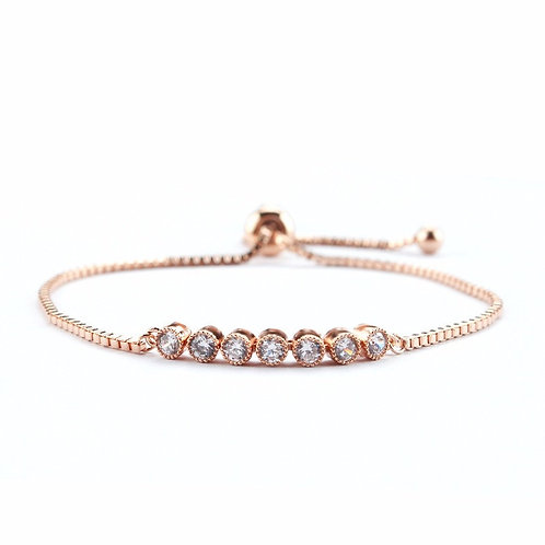 Dainty Glam Bracelet, Available in Silver, Rose Gold or Gold, Bridal Accessories