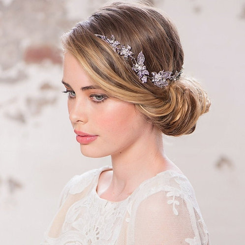 Starlet Glam Hair Vine, Hair Accessories, Bridal Hair, Crystal & Pearl Floral Ha