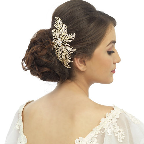 Gatsby Glam Crystal Headpiece, Gold,  Bridal Accessories, Hair Comb