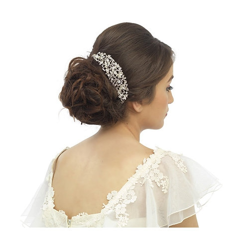 Crystal Luxe Hair Comb, Available in Silver , Bridal Accessories, Bridal Hair, B