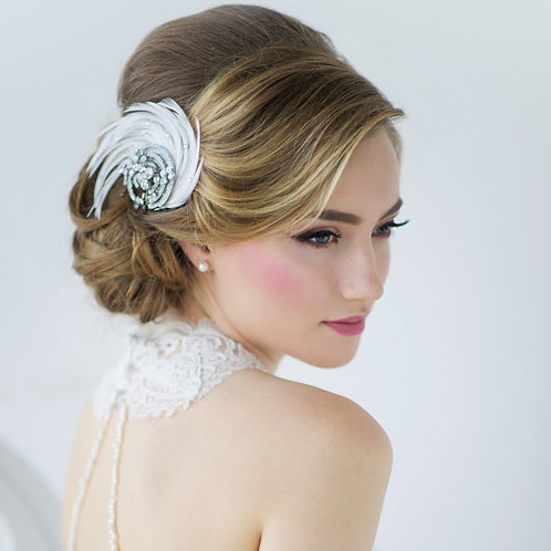 Beautiful Feather Luxe Headpiece, Bridal Accessories, Bridesmaid Hair, Bridal He
