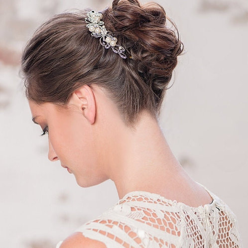 Enchanting Pearl Hair Comb, Available in Silver, Bridal Accessories, Bridal Hair