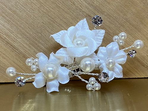 Beautiful Train Pin, Wedding Dress Train Pin, Floral & Pearl Dress Pin, Bridal G