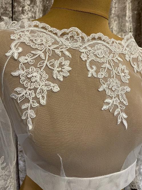 Beautiful Stretch Tulle & Lace Bolero - Wedding Dress Cover Up