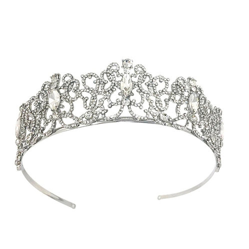Exquisite Crystal Starlet Bridal Tiara, Wedding Tiara, Bridal Accessories, Silve
