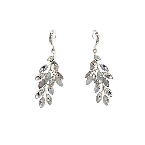 Chic Vine Earrings, Available in Silver or Opal, Wedding Jewellery, Bridal Acces