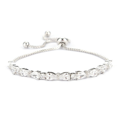 Gorgeous Chic CZ Adjustable Bracelet, Available in Silver, Rose Gold or Gold Bri