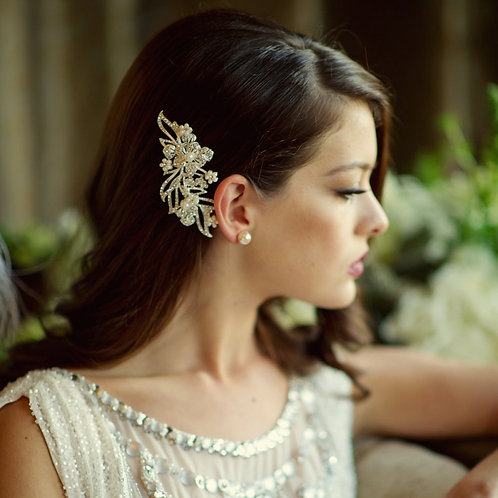 Pearl & Crystal Hair Comb, Available in Silver, Bridal Accessories, Bridal Hair,