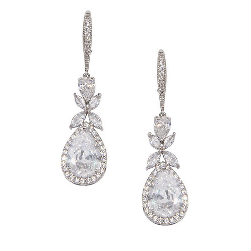 Crystal Sparkle Earrings, Available in Silver, Bridal Accessories, Bridal Jewell