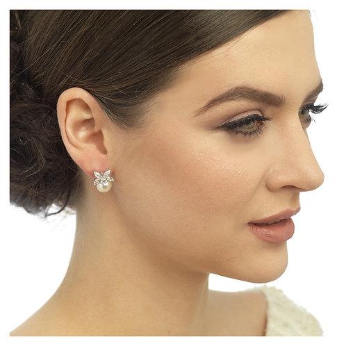 Delicate Pearl & Crystal Earrings