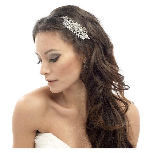 Classic Extravagance Pearl Hair Comb, Silver, Bridal Accessories, Bridal Hair, B