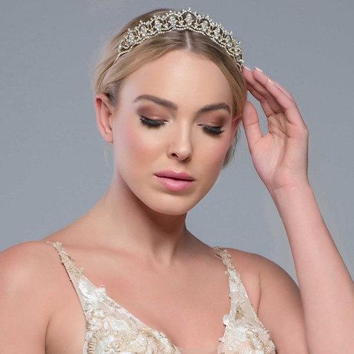 Jewel Bridal Tiara, Wedding Tiara, Bridal Accessories, Rose Gold, Gold or Silver