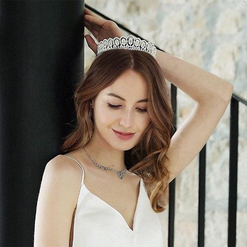 Crystal Sparkle Bridal Tiara, Wedding Tiara, Bridal Accessories, Silver Tiara, B