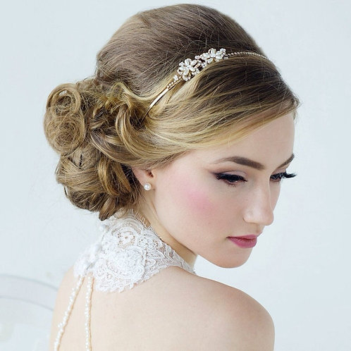 Aimee Sweet Vintage Headband, Pearl, Crystal , Floral Headband, Bridal Accessori