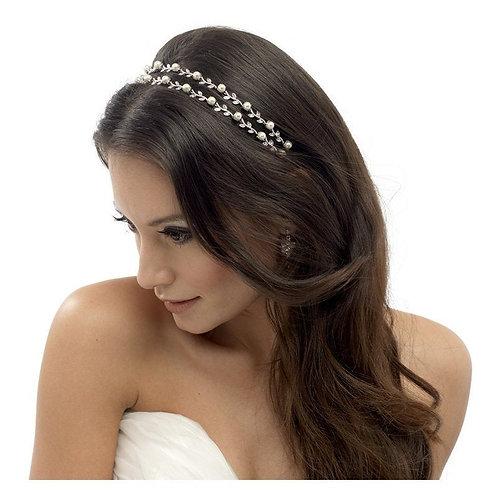 Swarovski Crystal & Pearl Double Row Headband
