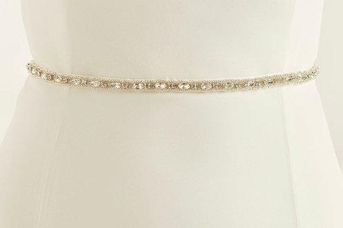 Beautiful Bridal Belt, Satin Belt with Embellishment Ornamental Stones Belt,  We