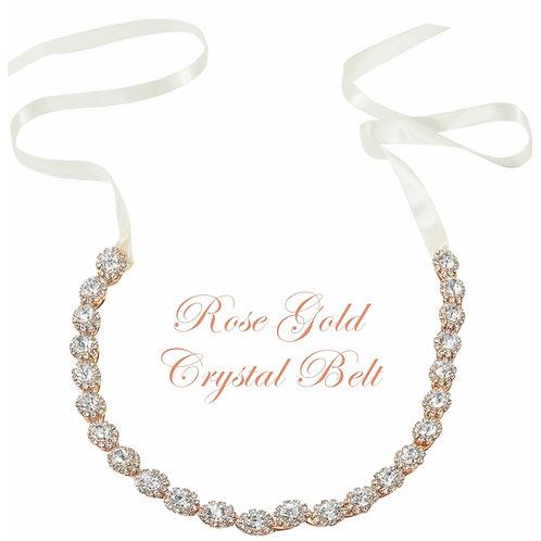 Crystal Treasure Bridal Belt - Rose Gold