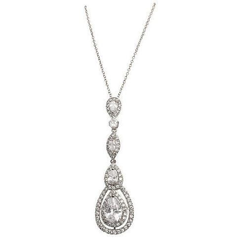 Starlet Sparkle Necklace, Available in Gold, Silver or Rose Gold, Wedding Jewell