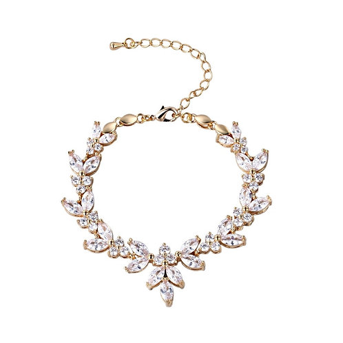 Vintage Sparkle Bracelet, Available in Silver, Rose Gold or Gold, Bridal Accesso