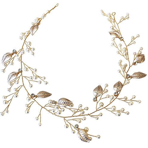 Starlet Elegance Hair Vine, Wedding Hair Accessories, Gold, Blush Pink