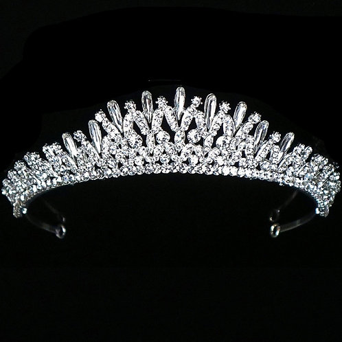 Crystal Treasure Bridal Tiara, Wedding Tiara, Bridal Accessories, Silver Tiara,