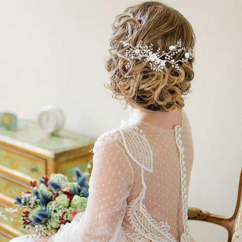 Vintage Luxe Hair Comb, Available in Silver or Gold, Bridal Accessories, Bridal
