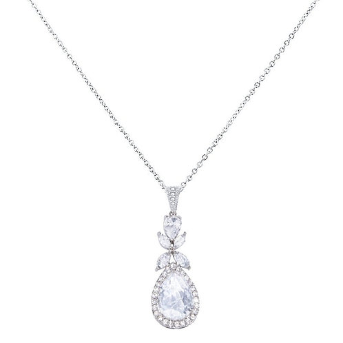 Crystal Sparkle Necklace, Available in Silver,  Wedding Jewellery, Bridal Access