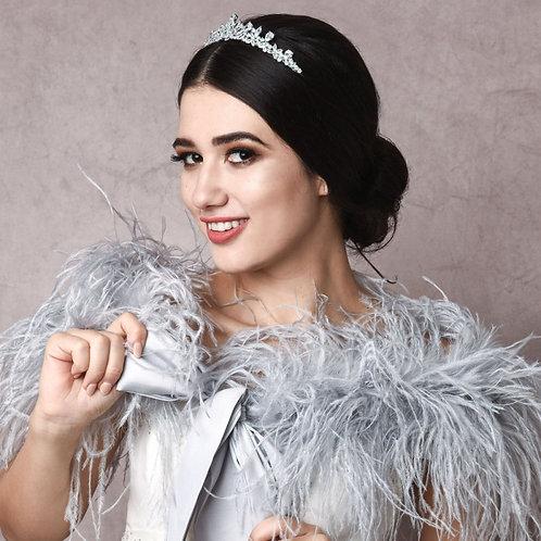 Diamond Treasure Bridal Tiara, Wedding Tiara, Bridal Accessories, Silver Tiara,