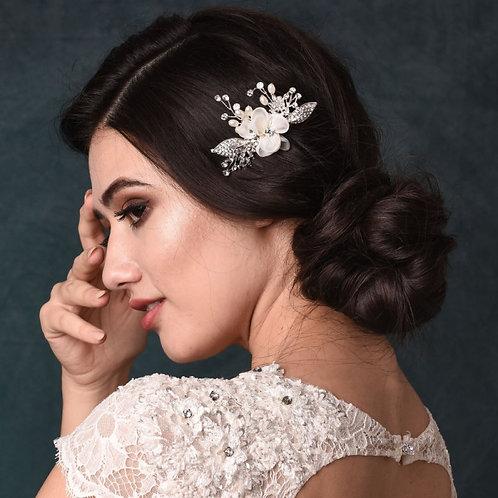 Vintage Chic Hair Pin, Silver, Bridal Accessories, Bridal Hair, Bridesmaid Hair,