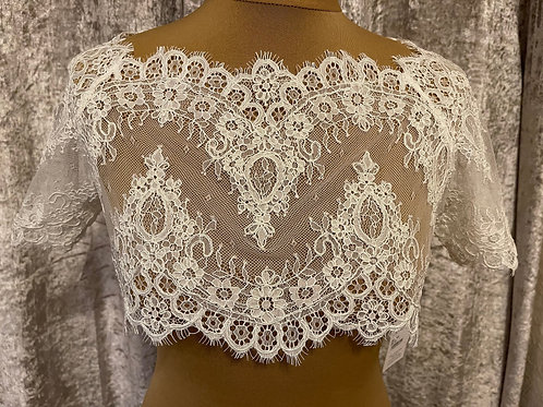 Beautiful Lace Bolero - Wedding Dress Cover Up Accessories,  Ivory French Lace,