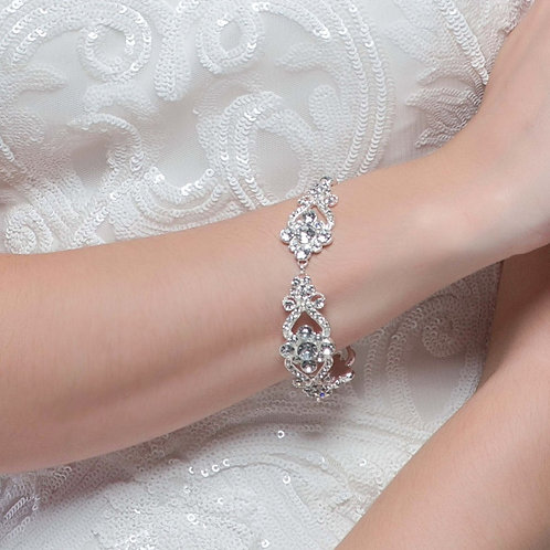 Starlet Glam Bracelet, Available in Silver, Bridal Accessories, Wedding Jeweller