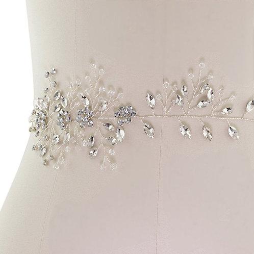 Beautiful Bridal Belt, Crystal Vine Belt,  Wedding Dress Belt