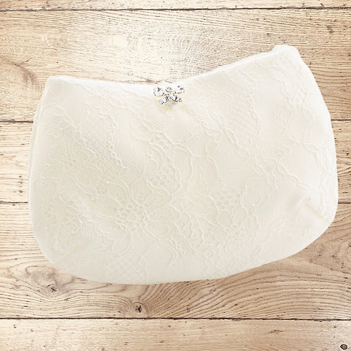 Beautiful Classic Bridal Lace Clutch Bag, Bridal Bag, Wedding Bag Champagne, Ivo