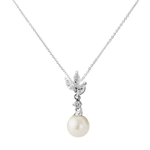 Vintage Chic Pearl Necklace, Available in Silver,  Wedding Jewellery, Bridal Acc