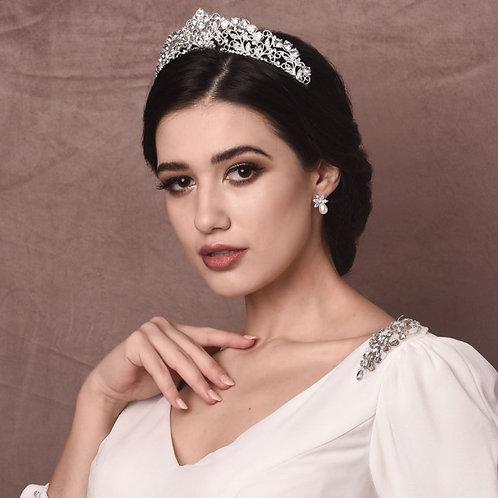 Isabella Exquisite Bridal Tiara, Wedding Tiara, Bridal Accessories, Silver Tiara