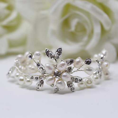 Eternally Pearl Bracelet, Available in Silver, Bridal Accessories, Wedding Jewel
