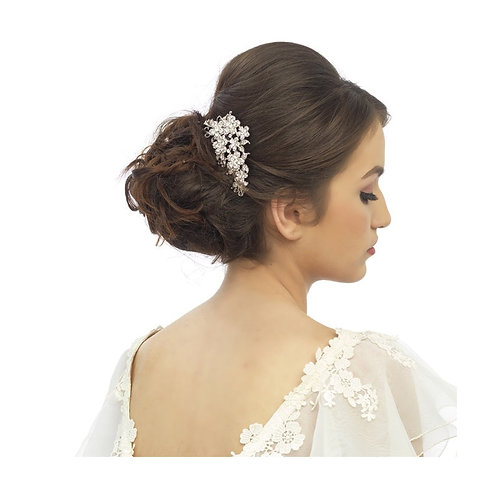 Crystal Flowers Hair Comb, Available in Silver, Rose Gold or Gold, Bridal Access