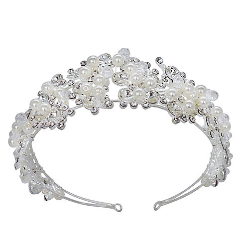 Crystal Luxe Headband, Crystal & Ivory Pearls, Head band, Bridal Accessories, Br