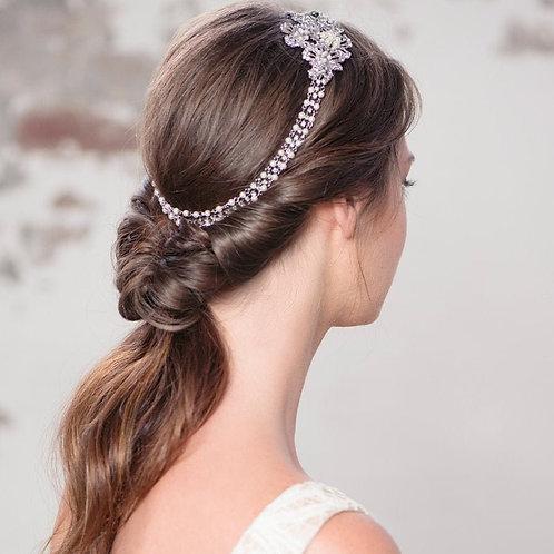 Starlet Luxe Pearl Headpiece,  Bridal Hair, Bridal Accessories, Head Piece, Silv