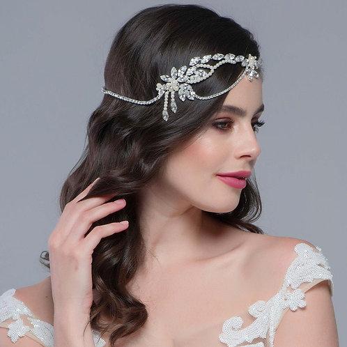 Chloe Inspired Headpiece,  Bridal Hair, Bridal Accessories, Head Piece, Silver H