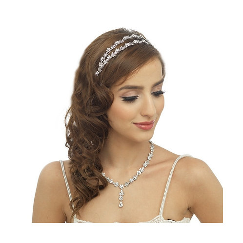Crystal Bridal Necklace & Earrings Set, Available in Silver, Bridal Accessories,