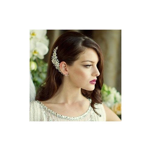 Chloe Pearl Flower Hair Comb, Silver, Bridal Accessories, Bridal Hair, Bridesmai